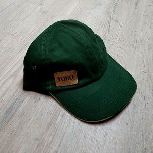 Vintage TORO Leather Strapback Hat. Perfect Shape!